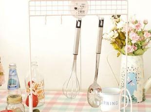 韩国代购 粉色爱心厨房铁艺收纳架/厨房厨具铲勺收纳挂钩,挂钩,