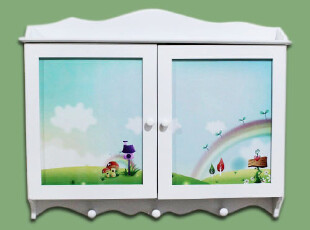 DS234田园地中海韩国家具遮挡电表箱壁挂装饰箱隔板架衣帽挂钩木,挂钩,