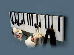 九信包邮 创意 钢琴16个挂钩 时尚壁饰新墙饰衣帽架 装饰挂衣钩,挂钩,