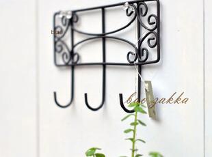 Bao ZAKKA 杂货新品 复古长方铁艺窗 3头挂钩,挂钩,