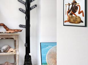 唯心饰家欧式地中海创意家居大号室内落地指路牌衣架装饰摆件,挂钩,