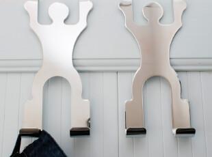 大号不锈钢 人型门后挂钩免钉挂钩 田园厨房创意zakka无痕挂衣钩,挂钩,