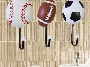 球产品运动挂钩 创意家居装饰壁钩 衣帽钩 挂衣钩 墙面装饰品,挂钩,