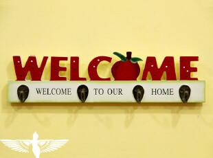 韩式田园风格 苹果创意挂钩 挂衣钩 衣帽架 钥匙钩 两款,挂钩,