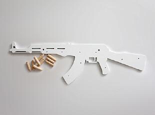 中国原创设计Geekcook 创意家居 饰品 超酷个性家居饰品AK47挂钩,挂钩,