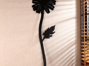 新品欧式风格 黑色铁质艺术墙面挂钩 创意太阳花订式衣帽挂钩,挂钩,