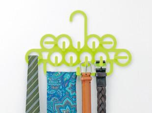 日本直送 INOMATA 多挂钩皮带架 丝巾领带挂架 卫浴毛巾挂 绿色,挂钩,