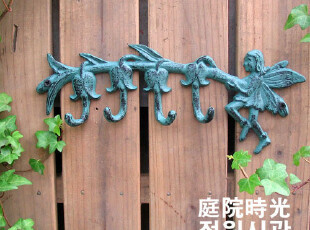 【庭院时光】花园杂货之欧式复古铸铁花仙子挂钩,挂钩,