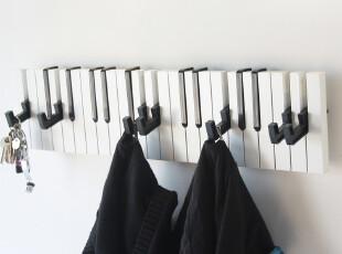 个性墙饰 钢琴挂钩衣帽架 琴键衣架 创意衣帽挂钩 展示架装饰挂钩,挂钩,
