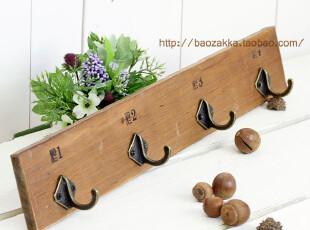 BAO ZAKKA 杂货 原木 丝印 数字 N0.4 挂钩 壁挂 3924,挂钩,