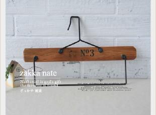 zakka No.3松木复古动物毛巾架 衣架 衣挂 服装拍摄道具,挂钩,