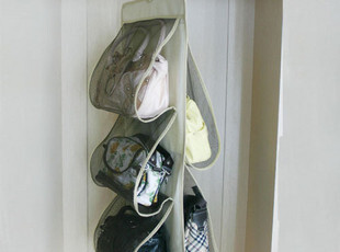 X 包包围巾四层挂袋衣柜收纳袋置物袋 衣橱多层收纳挂袋 布艺挂钩,挂钩,