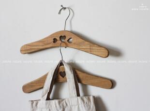 INCAFE| {自然风}:心型儿童杉木衣架,挂钩,