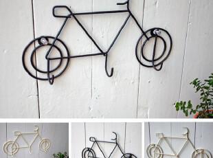 Bao ZAKKA 杂货新品 日单  铁锈色 自行车 3头 小挂钩 2色可选,挂钩,