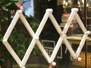 Fan's zakka杂货 可伸缩衣架 壁挂挂钩(水洗白),挂钩,