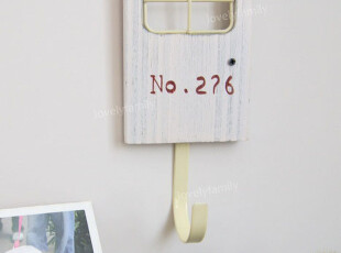 出口订单 zakka 日本杂货 门牌造型挂钩,挂钩,