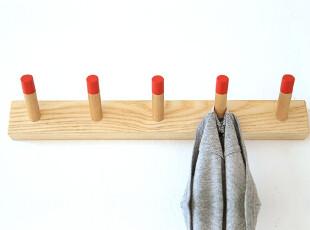 及木家具现代简约时尚创意衣架简易实木挂衣架衣帽架 壁挂YJ002,挂钩,