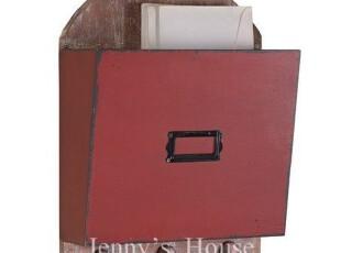 美式乡村 家居软装饰品 乡村红仿古信箱盒挂钩壁饰  美克美家风格,挂钩,