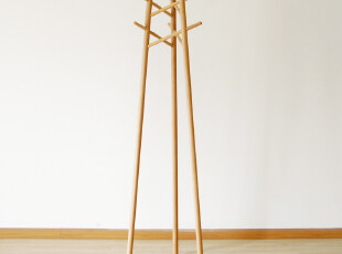 S02衣帽架|德国榉木|木蜡油|实木衣架|简约|木智工坊家具,挂钩,