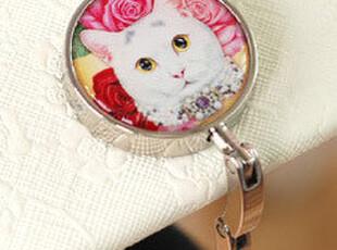 『韩国网站代购』超可爱的宠物猫猫便携包包折叠挂钩,挂钩,