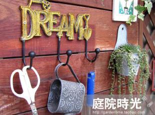 【庭院时光】日式杂货zakka欧式铸铁园艺DREAM梦想挂钩,挂钩,