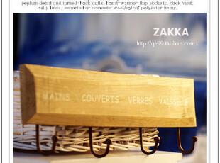 法式乡村原木衣帽挂钩  旧木挂钩  ZAKKA风复古怀旧木质四连挂,挂钩,