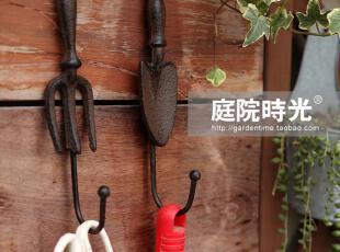 【庭院时光】园艺大师系列铸铁工具挂钩两个套装/单钩/花园杂货,挂钩,