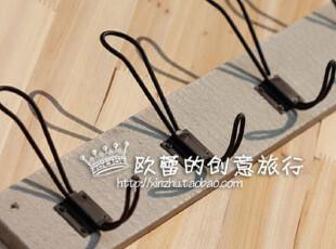 生态良品挂衣架ZAKKA杂货日单衣架/实用木质5排挂钩衣架zakka杂货,挂钩,