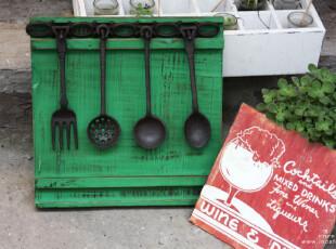 INCAFE| 铁铸4挂件(超值!) 复古厨房摆件 厨房挂钩 日单 杂货,挂钩,