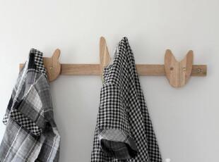 包邮WOODHOO出口外贸原单 实木 儿童 挂衣架 衣帽架 室内 墙壁,挂钩,
