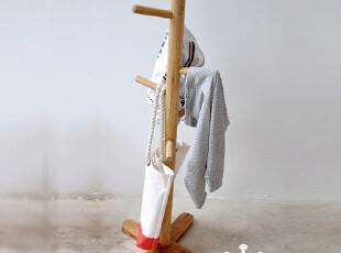 特价包邮WOODHOO 衣帽架落地实木 室内 挂衣架落地 儿童衣帽架,挂钩,