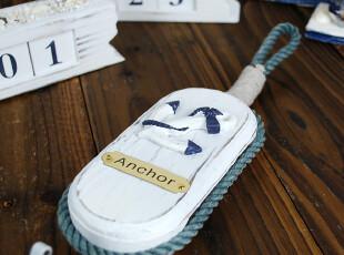 出口原单 航海海洋风原木质船锚装饰挂钩 礼品礼物,挂钩,