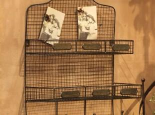你可居正品北欧式乡村田园家居饰品摆件创意铁线挂钩收纳篮墙饰2,挂钩,