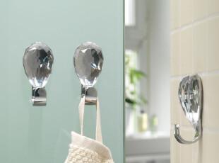 瑞士设计 Spirella 时尚钻石浴室装饰挂钩/粘钩(1个),挂钩,