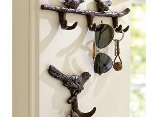 简单的奢华 国内现货 复古手工雕琢铸铝小鸟装饰挂钩衣钩 限时9折,挂钩,