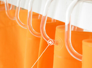 德国品质 盒装高透明C型浴帘杆挂环 浴帘环 挂钩12个/盒特价9.9元,挂钩,