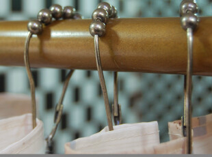 m&m 默玛 葫芦型滚珠金属浴帘/窗帘挂钩 12个 全铜材质 青古铜,挂钩,