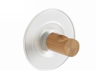 【欧洲时尚卫浴】Spirella 强力圆形吸盘浅竹纹索扣挂钩(1个),挂钩,
