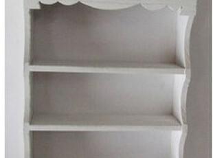 掌拒推荐 欧式简约风格 泡桐木 实木 壁挂 櫊板挂钩 白色壁柜子,挂钩,