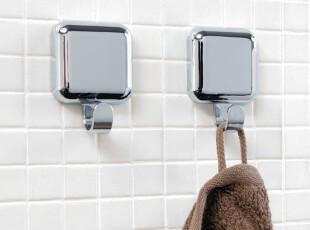 天猫新风尚 瑞士设计 Spirella 简约方形银色浴室装饰挂钩/粘钩,挂钩,