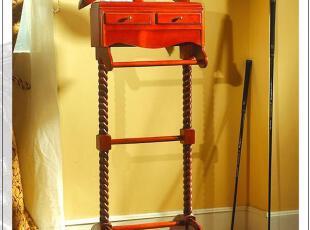 威廉姆斯欧式家具 实木衣帽架衣服架落地衣帽架 古典衣帽架960387,挂钩,