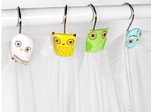 美国代购 urban outfitters Owl Shower Ring 猫头鹰浴帘挂钩,挂钩,