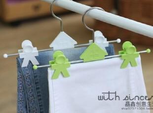 韩国进口BTLIFE 晒裤架 裤子晾晒夹 晒衣架裤挂 衣架4只装,挂钩,