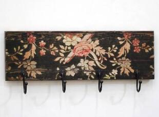 【东海岸阳光】复古浪漫花朵做旧衣帽挂钩/陈旧残破效果/壁饰,挂钩,