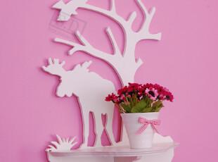 大灰狼挂架创意小家具儿童家具花架置物架装饰架壁挂壁饰,收纳架,