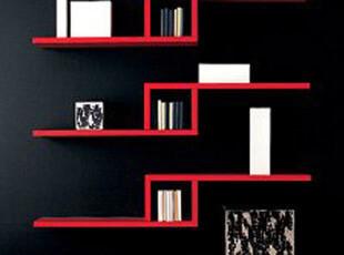 创意格子 L型搁板四件套 书架 置物架 壁挂架 挂墙架 创意搁板,收纳架,