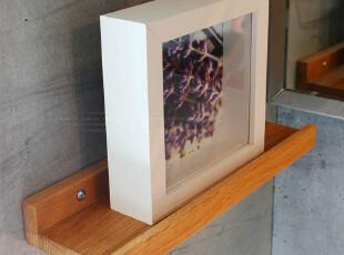 宜家风格免漆擦油环保实木橡木柞木壁架肥皂架/300mm搁架1-017,收纳架,