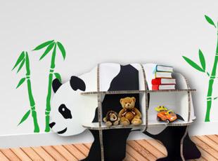包邮 欧式家居设计 创意熊猫置物架层架收纳架 整理隔板 搁板书架,收纳架,