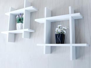 包邮井字烤漆隔板 时尚装饰架 书架墙壁置物架壁挂 创意家居搁板,收纳架,