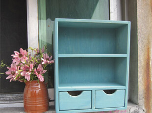 日式 zakka 木质挂架 置物架 壁柜 地中海隔板 挂箱,收纳架,